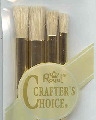 RCC209 Craft/Art Brush Set 4pc Stencil Nylon [Misc.]