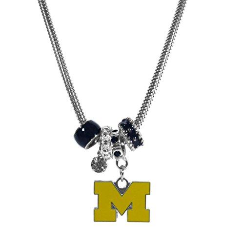 Michigan Wolverines Ladies Watch - NCAA Michigan Wolverines Women's Euro Bead Necklace, Blue