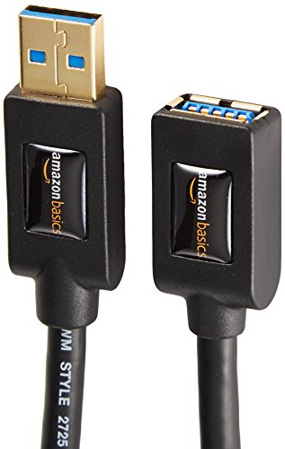 AmazonBasics USB 3.0 Extension Cable - A-Male to A-Female - 6 Feet (2 Pack)