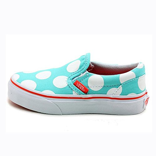 Vans Kids Classic Slip-On (Polka Dots) Aqua Sky 13.5
