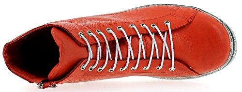 Andrea Conti 0341500 Scarpe Da Donna Scarpe Basse Della Scarpa Da Tennis Di Alta Rosso In Alto