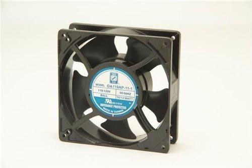 OA119AP-11-1TB,AC Fan Axial Ball Bearing 115V 80V to 130V 130CFM 46dB 127 X 127 X 38.5mm High Speed