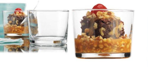 Palais Glassware Clear Glass 6 Ounce Dessert Ice Cream Bowls (Set of 6 Tasters)