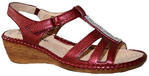 Cushion Walk - Sandalias de vestir de Material Sintético para mujer wine diamante
