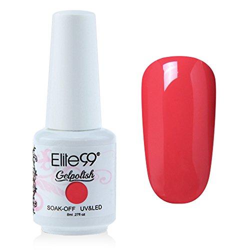 Elite99 Gelpolish Soak-off Gel Nail Polish UV LED Nail Art Coral 8ml 1331