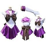 コスプレ 衣装 美少女戦士セーラームーン 土萌ほたる 風 【Mサイズ 紫 セット】