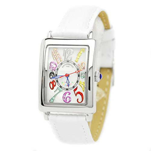 pierretalamon watch Women's Watches rectangular colorful index zirconia watch Seiko move white PT-9500L-2 Ladies