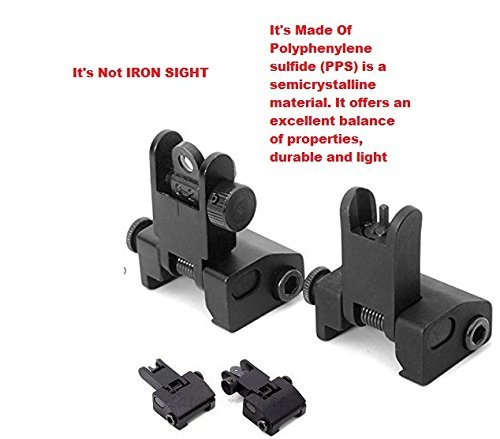 360 Tactical Flip-open Front and rear Polyphenylene (PPS) Sight Set for Picatinny Rail,Polyphenylene (PPS) Material Import From JAPAN (Best Ar Open Sights)