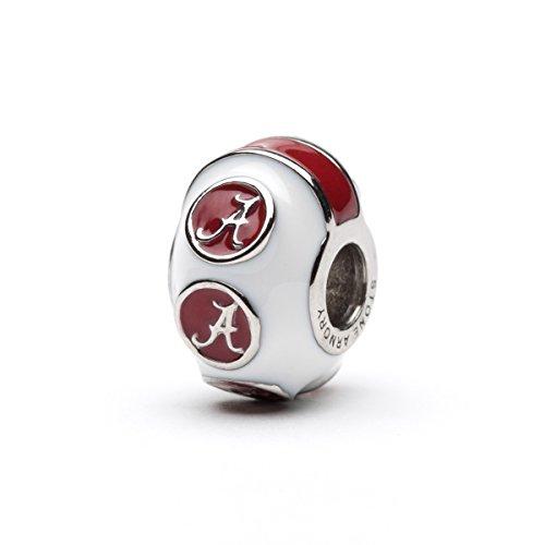 University of Alabama Charm Bracelet | Crimson Tide Gifts | Stainless Steel Alabama Jewelry | Alabama Logo Charm Bracelet by Stone Armory (Image #3)'
