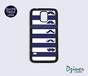 Galaxy S3 Case - Blue White Stripes Mustaches