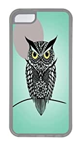 iPhone 5C Case, iPhone 5C Cases -owl print TPU Rubber Soft Case Back Cover for iPhone 5C Transparent