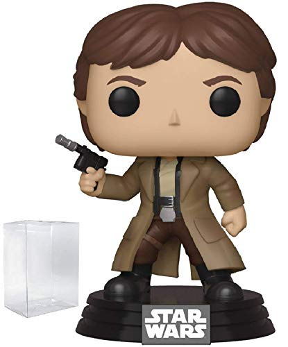 Star Wars: Return of The Jedi - Endor Han Solo Funko Pop! Vinyl Bobble-Head Figure (Includes Compatible Pop Box Protector Case)