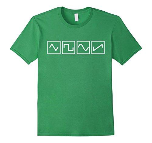 Saw Type (Mens Sine Saw Square Waveform Types - Analog Synthesizer Tshirt 3XL Grass)