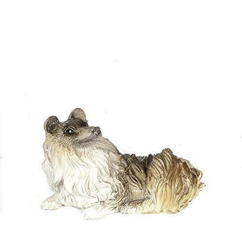 Melody Jane Maison de Poup/ées Couch/é Chien Miniature Animal de Compagnie 1:12 /Échelle