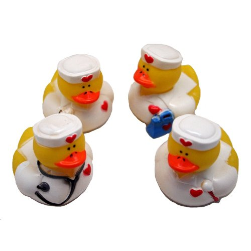Fun Express Nurse Rubber Ducks Party Favors Set (Lot of 12) -