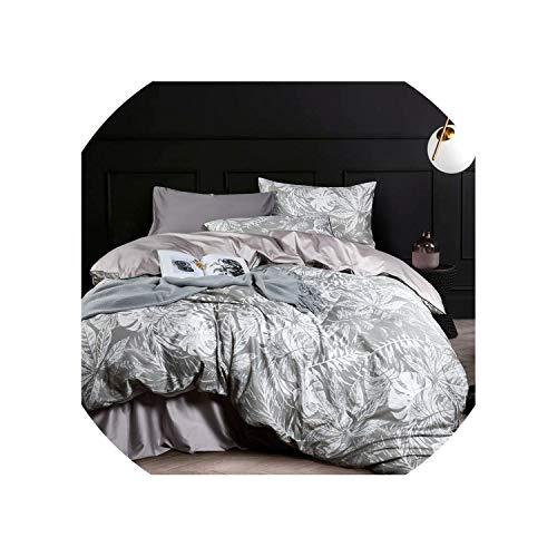 Duck bean Egyptian Cotton Bed Linen Sheets Satin Bedding Sets Duvet Cover Flower Print Girls Pastoral Princess bedspreads #sw,-YRJ-02-yeyun,Queen,Flat Bed Sheet