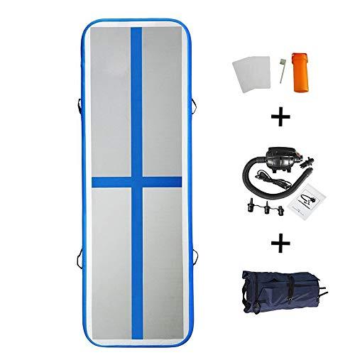86 York 10 Ft Air Track Inflatable Gymnastics Tumbling Air Track Mat with Electric Pump for Home Use/Training/Cheer Leading/Yoga/Taekwondo (10ftx3.3ftx4(3x1x0.1m), Dark Blue)