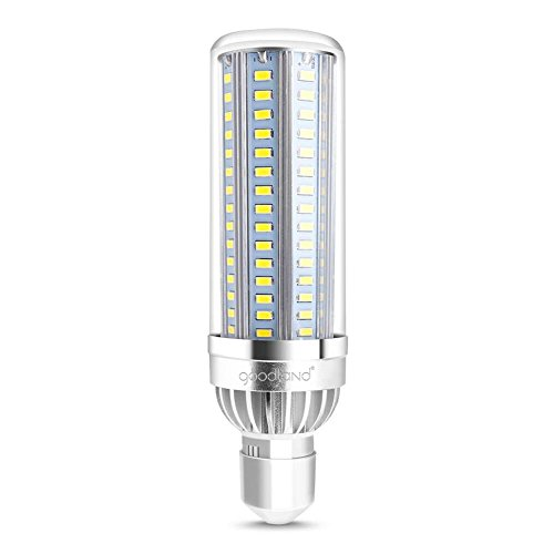 Goodland E26 Corn Bulb, LED Corn Light, 5400lm 6000K, Incandescent Bulb and CFL Replacement, 360 Degree Light for Large Area Street Lamp Garage Highway Warehouse Super Bright (Daylight 50W)