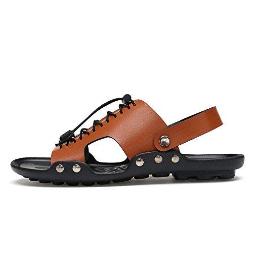Sandali da Marrone con Cricket Scarpe Uomo Toe Doppia Superficie Anti Casual Rivestiti Pantofola da Scivolo a HrqwFH