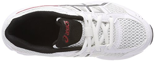 Asics Gel-Contend 4 GS, Zapatillas de Running Unisex Niños Blanco (White/onyx/classic Red 0199)