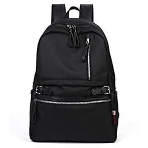 KAKA Backpack Casual Lightweight Laptop College School Daypack Shoulder Bag #2188 Black
