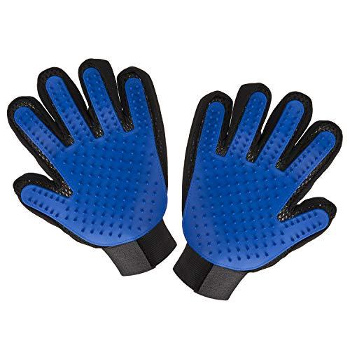 Pet Hair Remover Glove – Gentle Pet Grooming Glove Brush – Efficient Deshedding Glove – Massage Mitt with Enhanced Five…