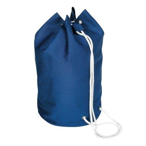cordón de algodón marinero Bolsa - lona de algodón de lona azul