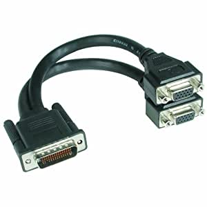 Cables To Go LFH-59 Male to 2 VGA Female Cable by C2G