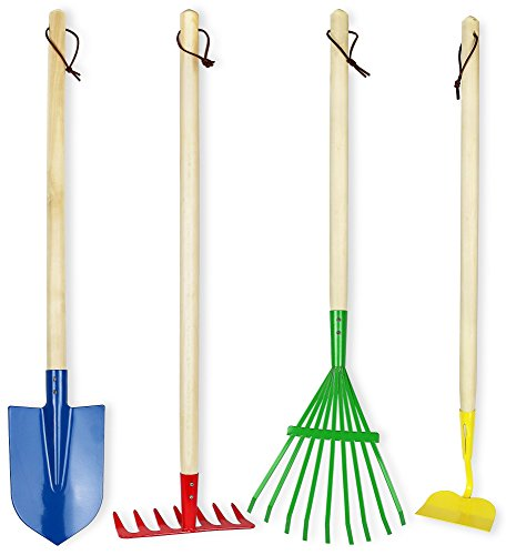 Click N Play Kids 4 Piece Big Gardening Tool Set - Set Rake