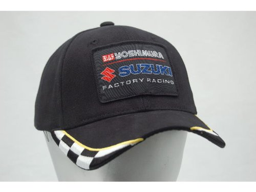Yoshimura Suzuki Factory Racing Embroidered Adjustable Cotton Hat Checkered (Apparel Suzuki)