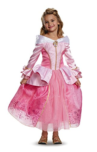 [Disguise Aurora Prestige Disney Princess Sleeping Beauty Costume, One Color, X-Small/3T-4T] (Toddler And Girls Aurora Princess Costumes)