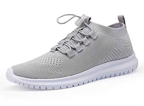 Athletic Shoes Casual Lightweight and Running Sneakers Walking Men Shoes Grey Women wxfSTUWq