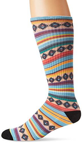 UNIONBAY Men's Fashion Print Crew, Café Crème, Sock Size:10-13/Shoe Size: 6-12