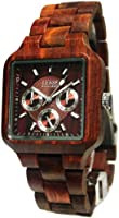 Tense Mens Adventure Summit Square Sandalwood Wood Watch B7305S DF from Tense