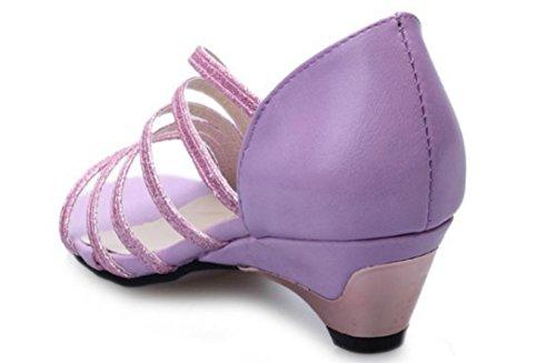 YCMDM nuove donne della bocca dei pesci dei sandali di modo sandali bassi Casual Shoes , purple , 36