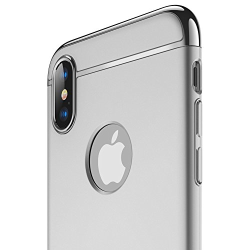RANVOO iPhone X Case, iPhone 10 case, Thin and Slim Hard 3 in 1 Stylish Cover Matte Surface with Electroplate Frame Case - Natural Estate Drew