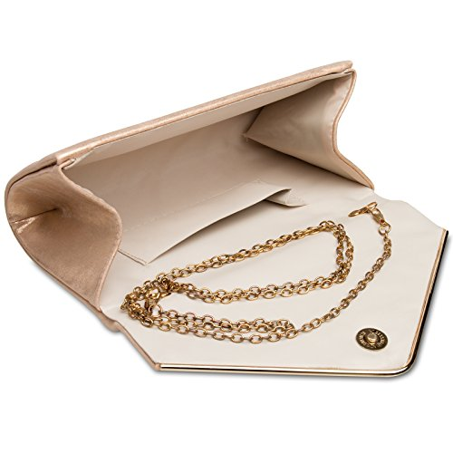 Gold Clutch CASPAR Evening Rose TA349 Women rqqAnRXx