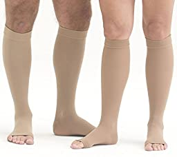 Mediven Plus 30-40 mmHg Knee High OT w/Beaded Silicone Band : Beige Size VII