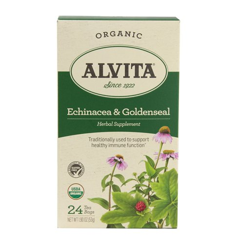 Alvita Teas Echinacea and Goldenseal Tea, 24 Count