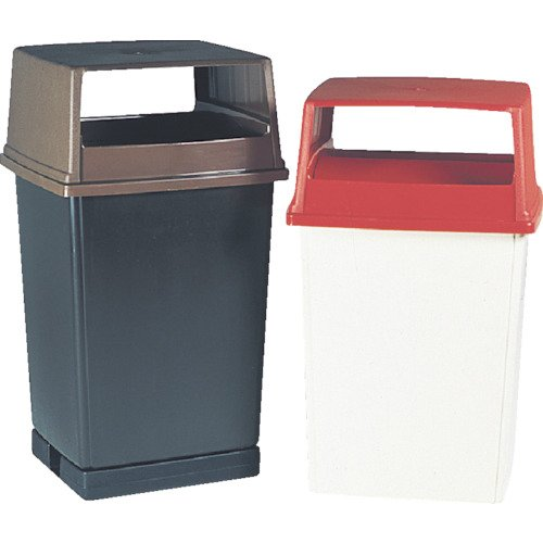 Rubbermaid Commercial Products Glutton Series Refuse Container with Base (White, 56-Gallon) (FG256B00OWHT)