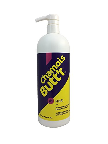 Chamois Butt'r Her' Anti-Chafe Cream, 32 oz Bottle with (Her Cream)