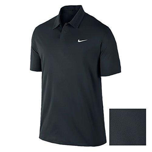 Nike TW Emboss Polo (Small, Black/Metallic Silver)