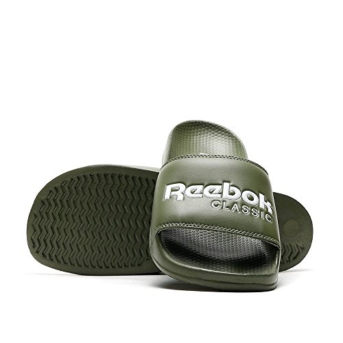 Reebok, Infradito uomo verde Green