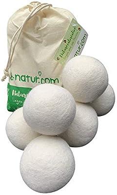 extragrande XXL de bolas de secado de 8 de Natural en pack de 6 ...