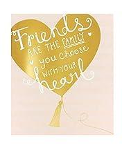 Tarjeta de cumpleaños para amigo, tarjeta de cumpleaños para ella, diseño de corazón dorado