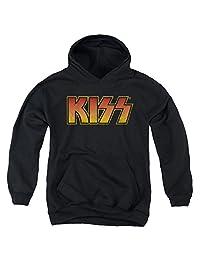Kiss Hard Rock Metal Band Rock N' Roll Music Logo Big Boys Pull-Over Hoodie
