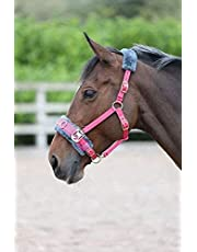 Shires Fleece Lined Lunge Cavesson Pink Cob