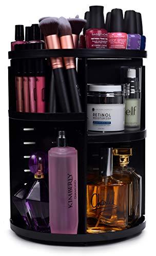 360 Rotating Makeup Organizer - Adjustable Shelf