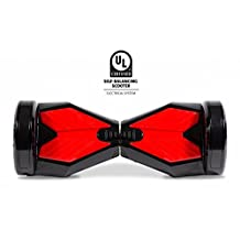 """HOVERBIRD HBIRD-I5-Black 8"""", Hands Free Two Wheel Self Balancing Electric Scooter, Black/Red"""