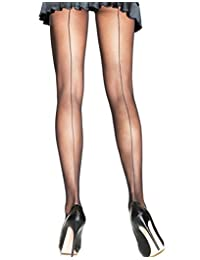 Leg Avenue Women's Plus-Size Back Seam Sheer Pantyhose